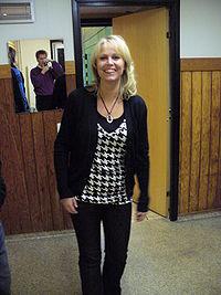 Annika Andersson hjemme i Falkenberg, Halland (2006).