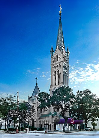 Roman Catholic Archdiocese of Galveston–Houston - Image: Annunciation Church Downtown Houston