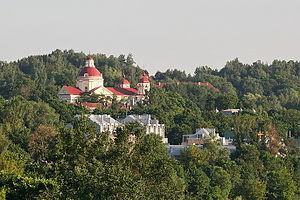 Antakalnis - St Peter and St Paul's Church against Antakalnis' hills