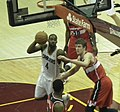 Antawn Jamison fouled by Jan Vesely.jpg
