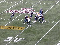 Tim Hortons advertising on the field at BC Place during the 2005 Grey Cup game
