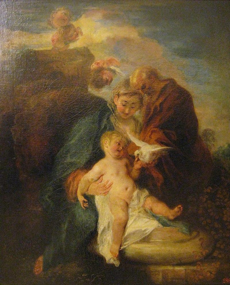 Antoine Watteau, La Sainte Famille (1719) 02.JPG