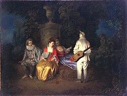 Antoine Watteau: La Partie Carrée