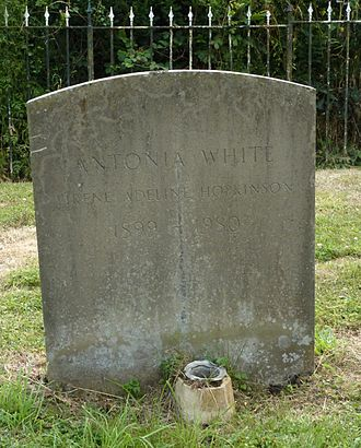 Antonia White - Antonia White's grave at the Shrine of Our Lady of Consolation in West Grinstead, Sussex, photographed in 2014
