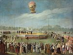Antonio Carnicero Y Mancio - Ascent of the Balloon in the Presence of Charles IV and his Court - WGA04272.jpg