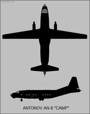 Antonov An-8 - Silhouette two-view of the Antonov An-8
