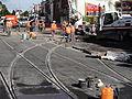 Anzin & Valenciennes - Travaux de raccordement des lignes A & B du tramway de Valenciennes à la Croix d'Anzin le 13 août 2013 (09).JPG