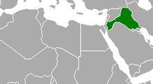 Description de l'image Arab Federation of Iraq and Jordan map 1958.png.