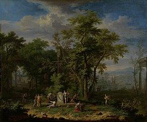 Arcadian Landscape with a Ceremonial Sacrifice