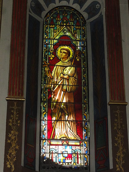 Arcangues vitrail Sanctus Bernardus
