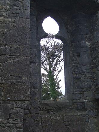 Ardfert Cathedral - Window in Ardfert friary