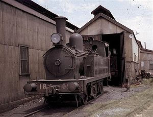 New South Wales Z18 class locomotive - 1805 stands outside the Reid's Hill depot, Port Kembla