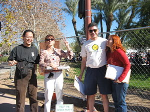 Ballot access - Activists of the Arizona Green Party collecting signatures for ballot status