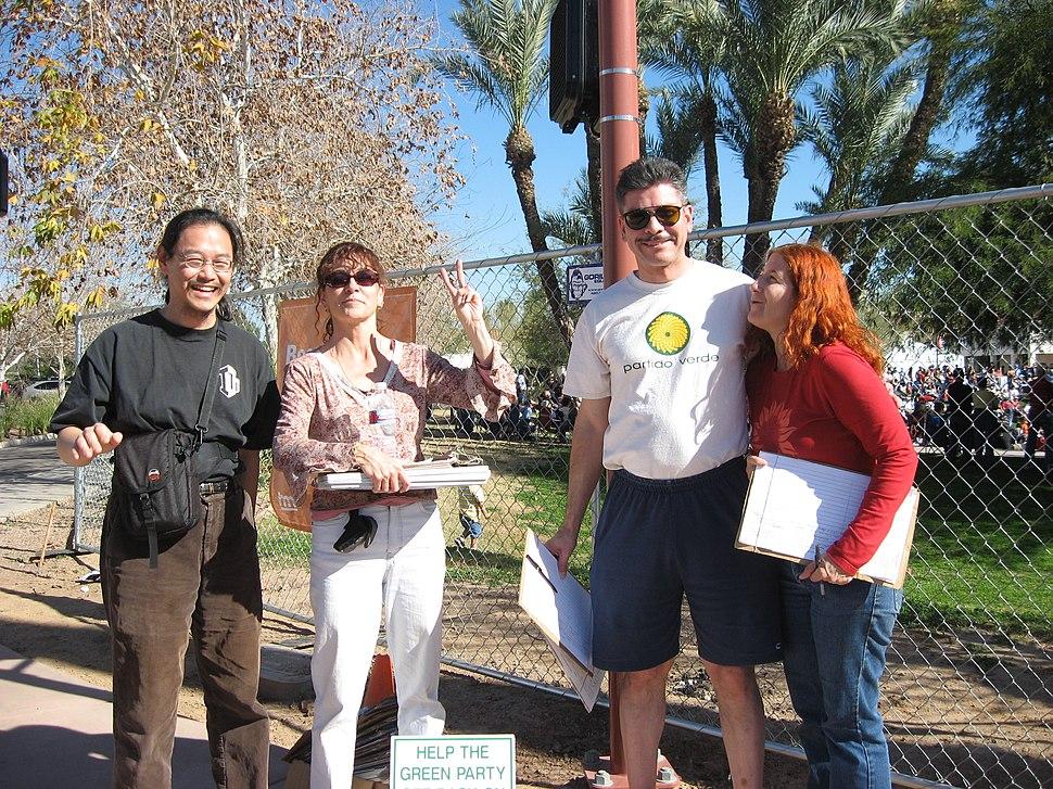Arizona Greens ballot status signature collectors 20080209