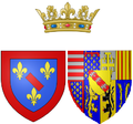 Arms of Louise Marguerite of Lorraine as Princess of Conti.png