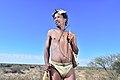 Arri Raats, Kalahari Khomani San Bushman, Boesmansrus camp, Northern Cape, South Africa (19920347043).jpg