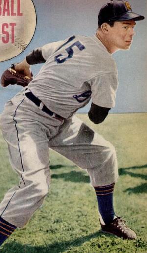 Art Houtteman - Houtteman on the cover of Baseball Digest