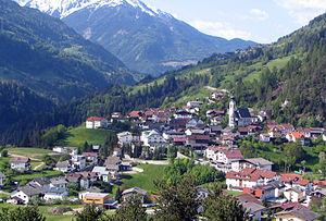 Pitztal - Pitztal valley from Arzl im Pitztal, Tyrol, Austria