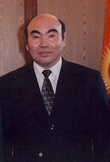 1st and former President of Kyrgyzstan
