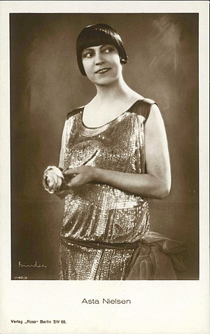 Asta Nielsen - Asta Nielsen photographed by Alexander Binder, 1920's.