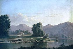1850s painting of Conneaut Creek in the township