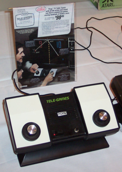 Atari's Home Pong console, released through Sears in 1975, and the original Sears Catalog advertisement.