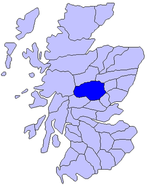 "Atholl - Map of Scotland showing roughly the ""district"" of Atholl"