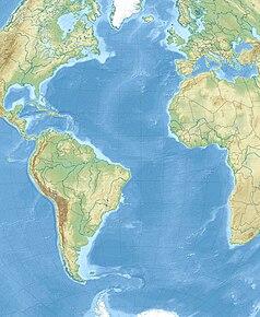 Mapa lokalizacyjna Oceanu Atlantyckiego