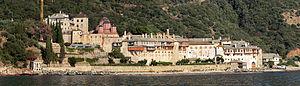 Xenophontos monastery - Atos, Panorama Xenophontos monastery