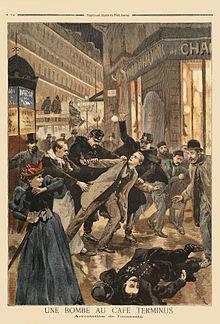 Tapa del periódico en que Émile Henry fue preso luego del ataque al Café Terminus.
