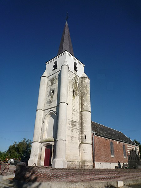 Church Saint-Barthélémy at Audencourt, Caudry, Nord-Pas-de-Calais, France.