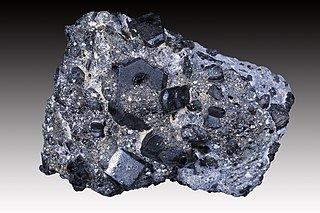 Augite pyroxene mineral