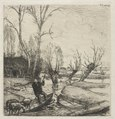 Auguste Louis Lepère - Man in a Boat with Three Sheep - 2007.264 - Cleveland Museum of Art.tif