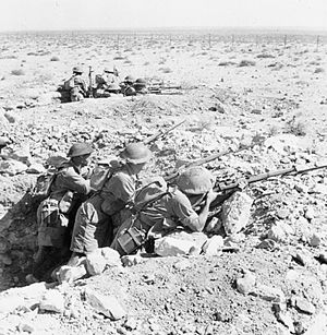 Siege of Tobruk - Australian troops occupy a front line position at Tobruk