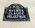 Avenue Claude-Vellefaux (Paris) - plaque.JPG