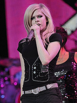 The Best Damn Thing - Lavigne performing in Amsterdam in 2008