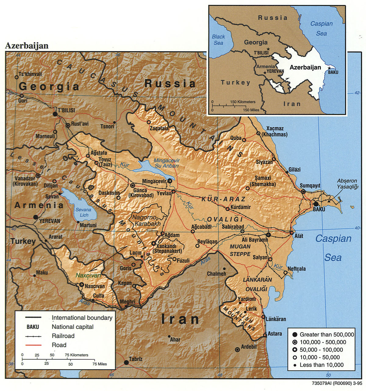 Geography Of Azerbaijan Wikipedia - Armenia physical map