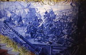 Battle of Bussaco - Battle Azulejo in National Palace of Bussaco