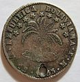 BOLIVIA, 1855 -HALF DOLLAR SIZED SILVER COIN, UNSURE OF DENOMINATION a - Flickr - woody1778a.jpg