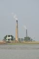 BSF Watchtower and Brickfield Chimneys - Hasnabad - River Ichamati - North 24 Parganas 2015-01-13 4492.JPG
