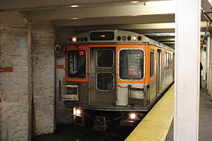 Girard station (Broad Street Line) - Broad Street Line train at Girard in December 2008