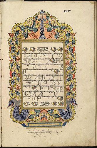 Javanese script - Image: Babad tanah jawi