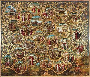 House of Babenberg - The Babenberg family tree triptych at Klosterneuburg Monastery (c. 1490, based on the genealogy by Ladislaus Sunthaym)