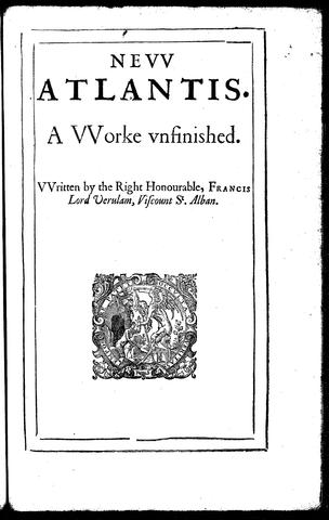 Edizione de La nuova Atlantide del 1628 - frontespizio