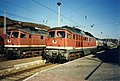 Bahnhof Sassnitz, October 1994 Baureihe 232 locos. 535-5 and 246-9. - Flickr - sludgegulper.jpg