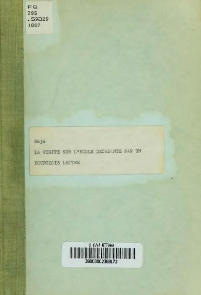 File:Baju - La Vérité sur l'école décadente, 1887.djvu