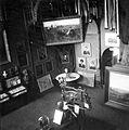 Bajza utca 21. Jókai-Feszty villa, Petőfi kiállítás. Középen Landerer és Heckenast könyvsajtója, melyen 1848. március 15-én a a Nemzeti dalt és a 12 pontot nyomtatták. Fortepan 16129.jpg