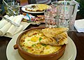 Baked eggs at Brambles Bistro (16217172849).jpg