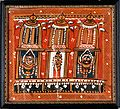 Balarama, Subhadra and Jagannath in three shrines surmounted Wellcome V0017726.jpg