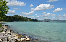 View of Tihany, from Lake Balaton
